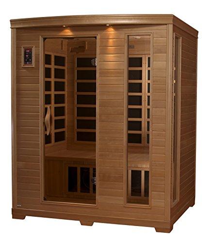 DYNAMIC SAUNAS AMZ-GDI-64-44-01 Luxury 3 Low EMF FAR Infrared Sauna (Infrared Far Carbon Sauna)