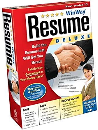 Winway Resume Deluxe 12  Win Way Resume