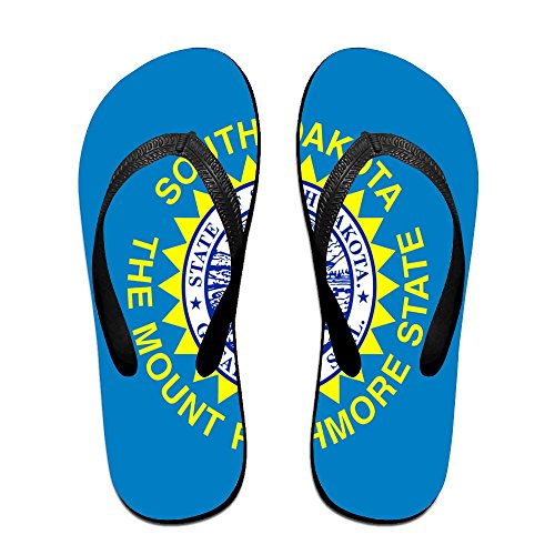 (South Dakota State Flag Comfortable Flip Flops For Children Adults Men And Women Beach Sandals Pool Party Slippers)