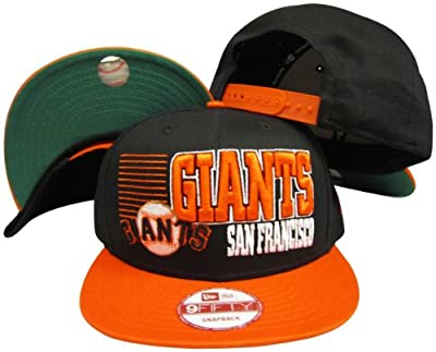 San Francisco Giants Black/Orange Two Tone Plastic Snapback Adjustable Plastic Snap Back Hat / Cap