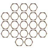 20 Pcs 1 Inch Copper BSPT Pipe Thread Hexagonal Nut Tube Connector Fixing Joint