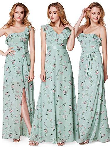 Ever-Pretty Vestido - Noche - Sin mangas - para mujer verde menta