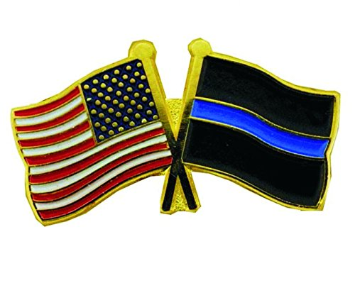 Thin Blue Line USA Flags Pin - Individual Blue Usa Pin