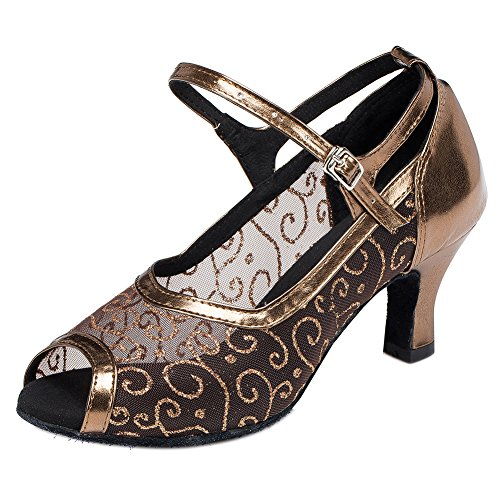 Fish mouth Dance Shoes Latin Dancing Women Lady Breathable Social Shoes Meijunter Hollow wapB4