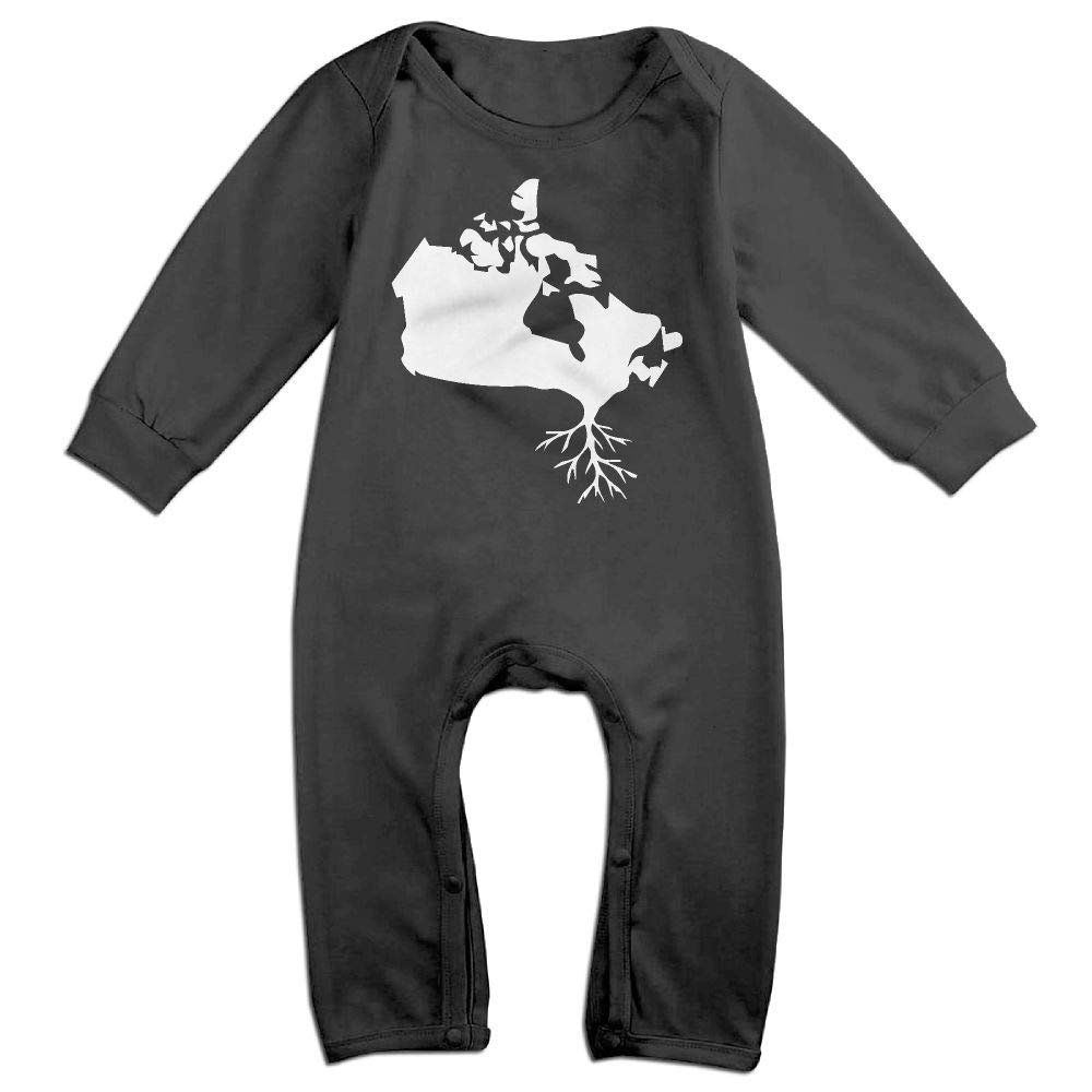 UGFGF-S3 Canada Map Roots Long Sleeve Newborn Baby Romper Jumpsuit Onsies for 6-24 Months Bodysuit
