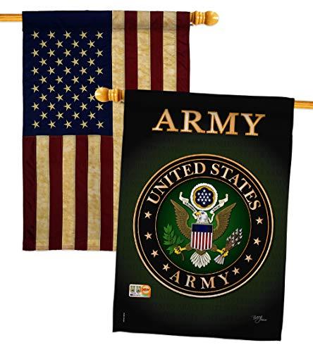 - Breeze Decor HP108055-BOAA Army Americana Military Impressions Decorative Vertical 28