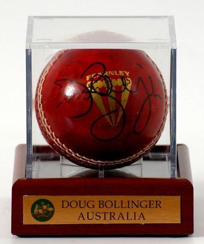 MUSEO deportivo británico Doug Bollinger mano firmada Cricket ...