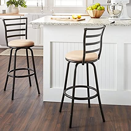 Prime Amazon Com Antique Brown Round Adjustable Counter Height Onthecornerstone Fun Painted Chair Ideas Images Onthecornerstoneorg