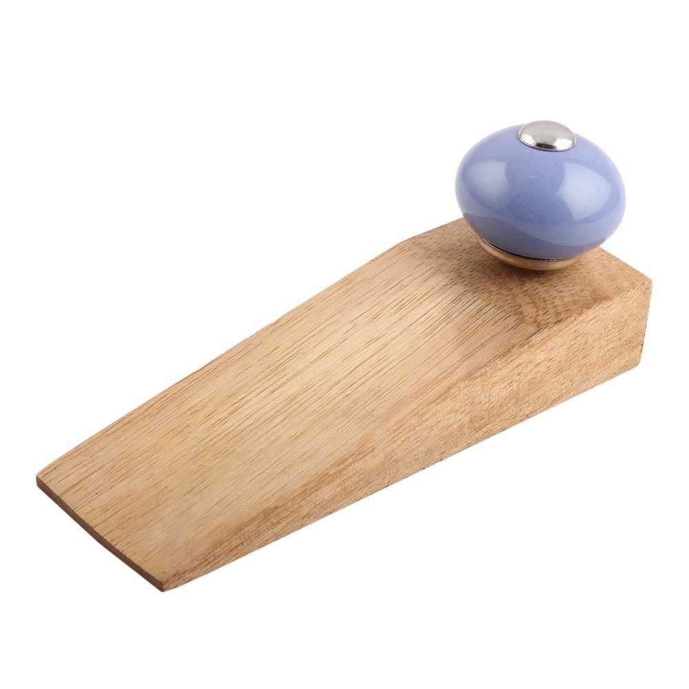 Juego de tapones para puerta de madera de cerámica dorada hecha a mano de IndianShelf Premium Stop cuña trabajo en todos los suelos no elástico fuerte agarre