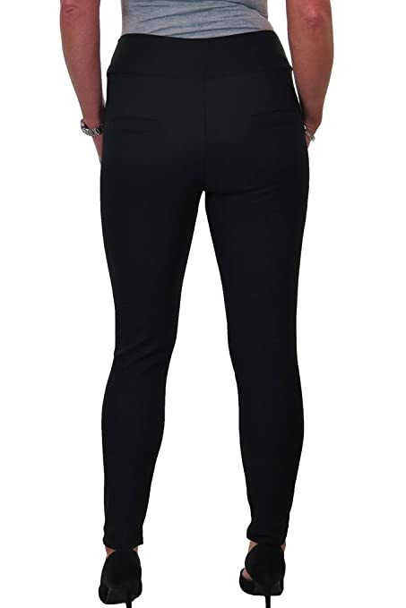 1550 Spandex Leggings Trousers With Front Detail 8-20 ICE