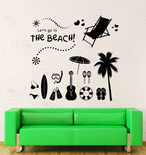 Wall Stickers Vinyl Decal The Beach Summer Vacation Travel Ocean Decor (z1762i)