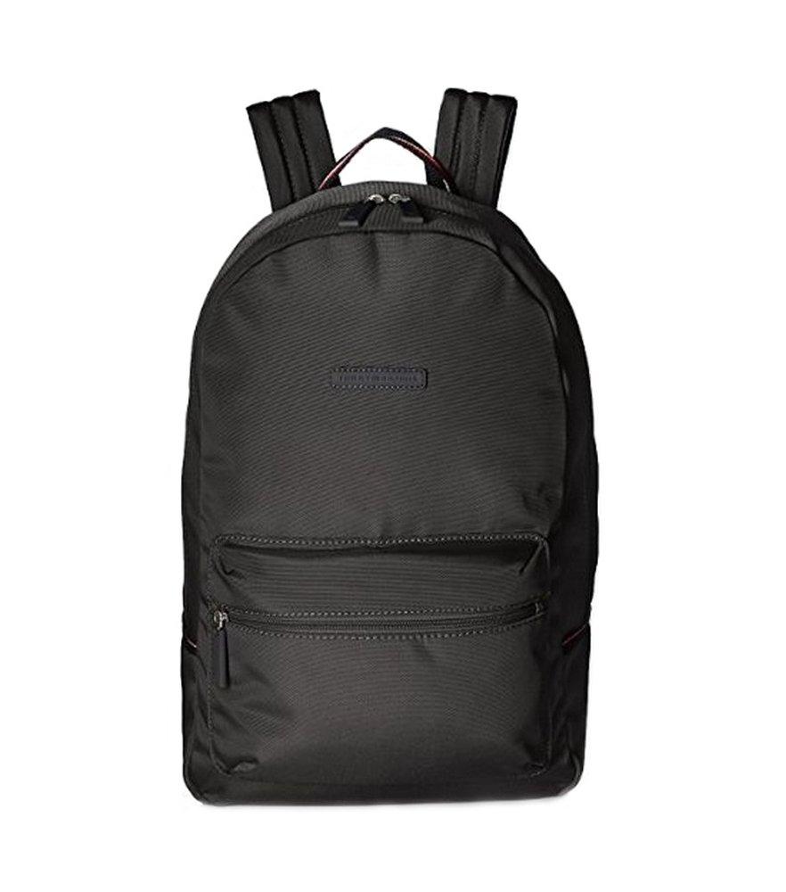 Tommy Hilfiger Solid Black Color School Laptop Sports Books Student Teacher Designer Classic Backpack ...