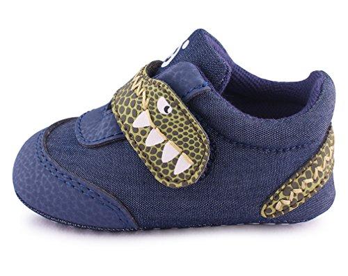 cartoonimals Baby Shoes Prewalker New Born Cribs Shoes Dinoo Denim US 3 Infant (New Infant Baby Crib Shoes)