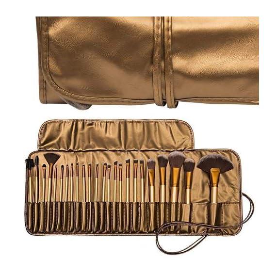 MISS & MAM Professional Makeup Brush Set 24 Pcs, Makeup Brushes for Women & Girls, Eyeliner, Eye Shadow, Eye Brow