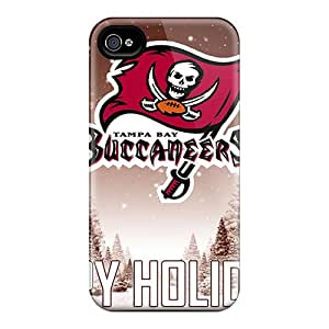 New Snap-on Deeck Skin Case Cover Compatible With Iphone 4/4s- Tampa Bay Buccaneers
