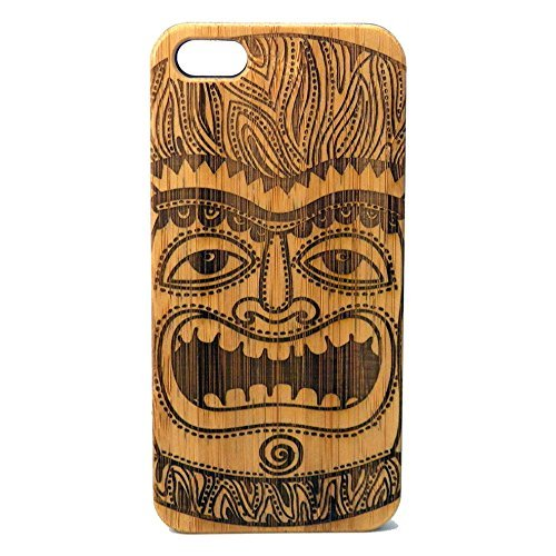 Tiki Idol Case for iPhone 7 Plus | iMakeTheCase Eco-Friendly Bamboo Wood Cover | Maori Mythology Polynesian Tiki -