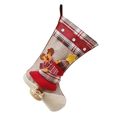 Weimay 1 UNIDS Decoraciones de Navidad de Dulces Calcetines Flor latt Medias de Navidad Decoración Casa Colgando Árbol Decoración Regalos Bolsa, ...