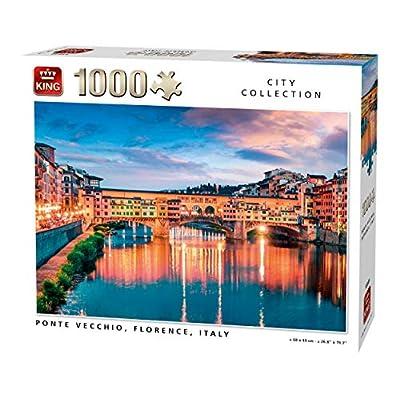 King 55849 Ponte Vecchio Firenze Italia Puzzle 1000 Pezzi A Colori 68x49 Cm