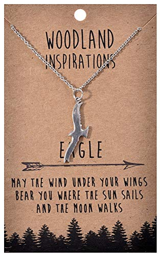 Shag Wear Woodland Nature Inspirations Quote Necklace (Eagle Pendant) ()