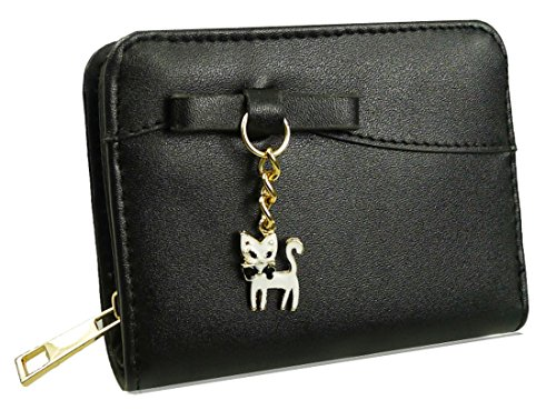 Kukubird Kitty Encanto Corto De Baile Fiesta Embrague Bolso Monedero black