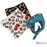 Super Hero Superhero Bandanas - 12 pcs