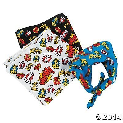 Super Hero Superhero Bandanas pcs