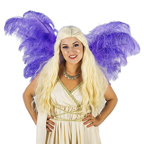 Adult Angel Fairy Butterfly Wing - Sexy Large Lavender (Purple) Ostrich Feather wings for Halloween, Costume Party, Carnival Theme and More.]()