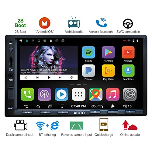 [NEW] ATOTO A6 2DIN Android Car Navigation Stereo with Dual Bluetooth & 2A Charge -Premium A6Y2721PB 2G/32G Car Entertainment Multimedia Radio,WiFi/BT Tethering internet,support 256G SD &more