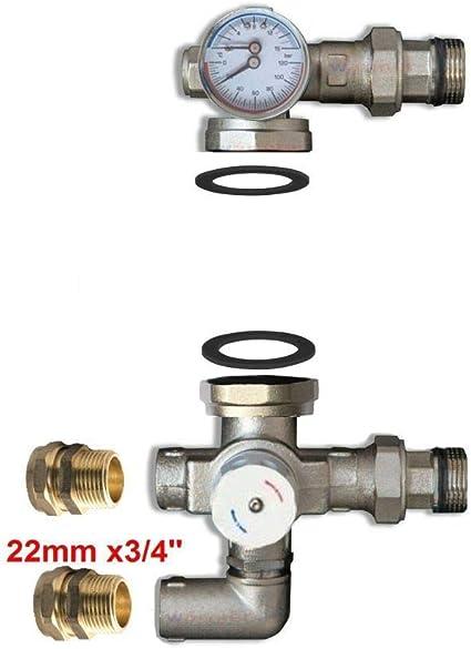 per collettore riscaldamento a pavimento pompa ricircolo acqua riscaldamento kit gruppo pompa riscaldamento di valvola sfogo aria sicurezza testa termostatica termostato
