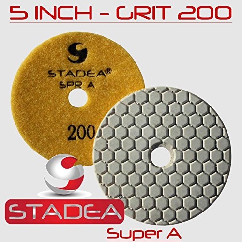 Stadea Diamond Polishing Pad 5'' Dry - Concrete Granite Stone Glass Polishing Grit 50, DPPD05SPRA050G1P by STADEA (Image #4)