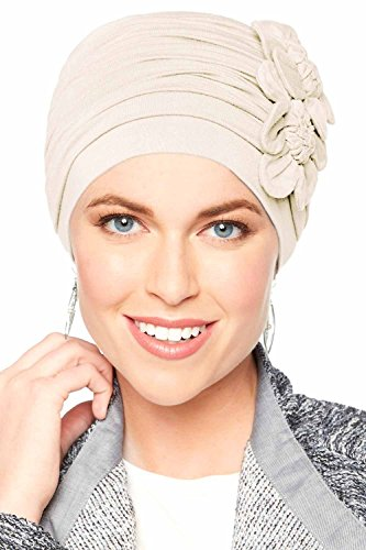 9688e697 Cardani Large Flapper Turban - Vintage Flapper Hat in Soft Bamboo ...