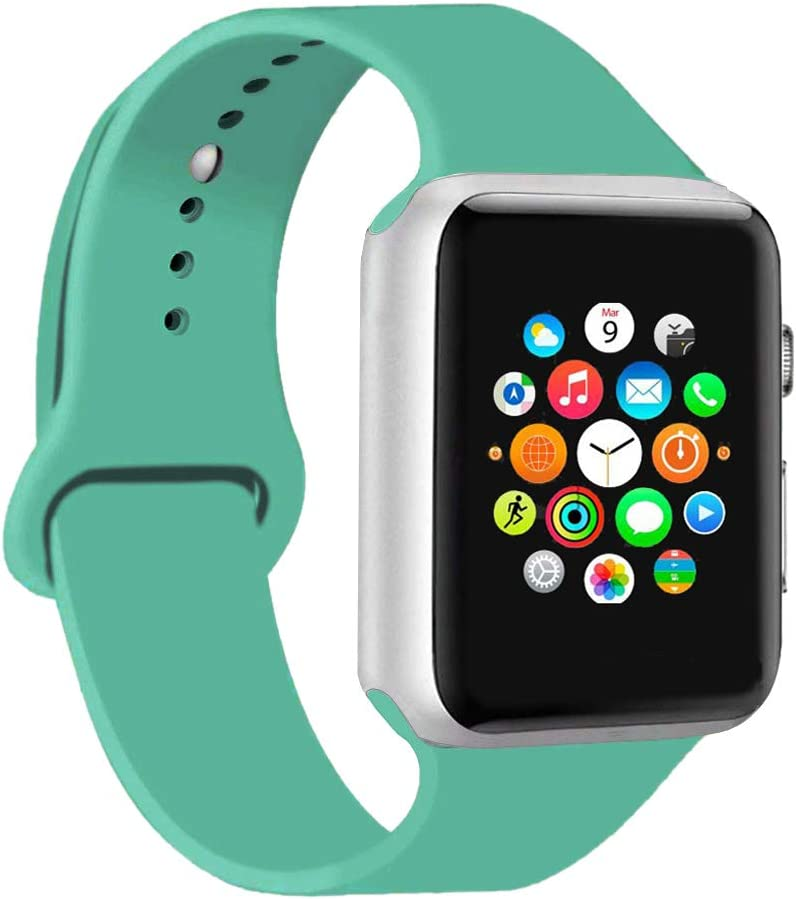 CoJerk Compatible for Apple Watch Band 38mm 40mm 42mm 44mm,Replacement Band for iWatch Series 4/3/2/1 (Lime Green, 38mm/40mm-ml)
