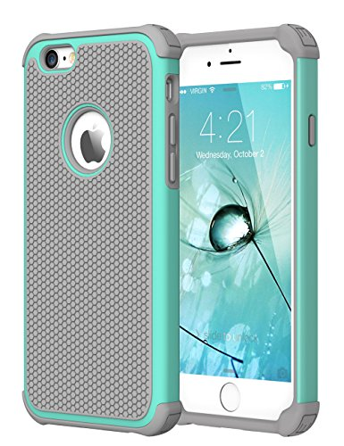 iPhone 6 Case, CHTech Double Durable Shockproof Case for Apple iPhone 6 6S 4.7 Inch (Teal)