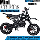SYX MOTO Kids Mini Dirt Bike Gas Power 2-Stroke 50cc Motorcycle Holeshot Off Road Motorcycle Holeshot Pit Bike, Pull…