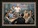 Grand Ol Gang Republican US Presidents Playing Poker Framed Artist Signed Giclee Canvas Art 24'' x 16''