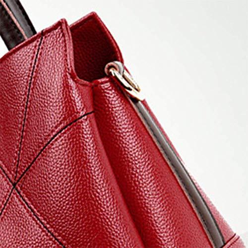 Las Mujeres Grande Bolso Red Bolso De 16 Costura Y cm 24 Hombro 30 única YT Bolsos Oblicua Bandolera 7qxp7TXIw