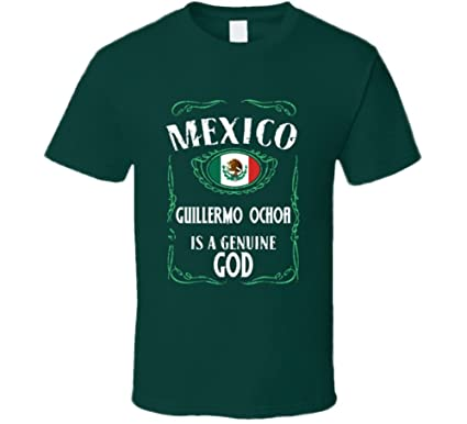 3699a9115ad Guillermo Ochoa is a Genuine God Mexico World Cup 2018 Football Fan T Shirt  S Forest