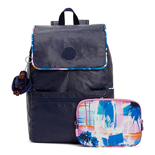 Kipling Aliz Lacquer Indigo Backpack