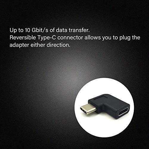 gfjfghfjfh USB 3.1 Typ C Buchse 90 Grad Winkel Stecker Adapter Konverter Stecker USB-C