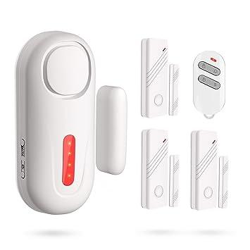 ERAY D2 Kit de Alarma Inalámbrico 120dB - 1 x Alarma de Puerta + 3 x Sensores ...