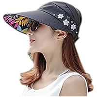 Fablcrew - Sombrero de playa con visera plana