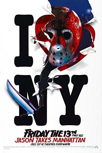 Friday the 13th Part VIII 8 Jason Takes Manhattan Movie Poster (1980) 24x36 ()