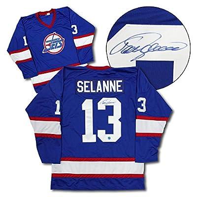 Teemu Selanne Winnipeg Jets Autographed Custom Hockey Jersey