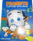 Vintage 1980s Peanuts Costume and Mask - Snoopy - Medium (8 to 10 Years) Fits Child 47 to 52 Inches Tall