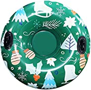 freneci Snow Tube Inflatable Snow Sled - 47 inches Heavy-Duty Snow Tube for Kids & Adults, Thick PVC Snow