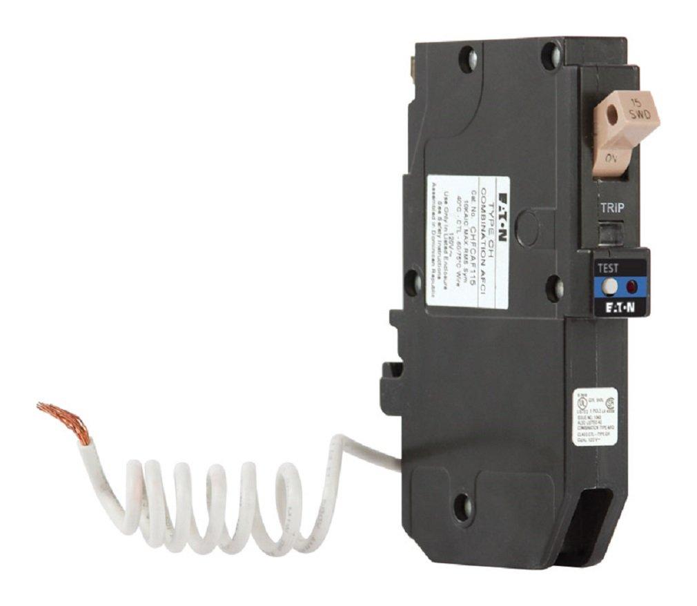 Eaton Type Ch 15 Amp 1 Pole Combination Arc Fault Circuit Breaker Square D Homeline 15amp 1pole