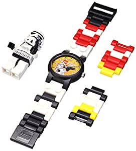 LEGO Kids' 9002922 Star Wars Stormtrooper Plastic Watch with Link Bracelet and Figurine
