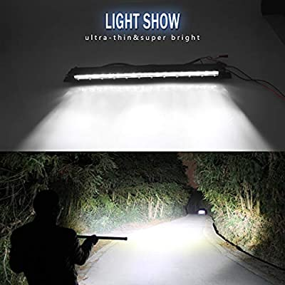 Led Light Bar Ultra-thin 32 Inch Led Light Bar Spot Flood Combo Driving Light Ultra-thin Off Road Lights Single Row Light Bar Super Slim Led Bar for Jeep Truck ATV, UTV, SUV, Cars (9610A-32INCH-1PC): Automotive