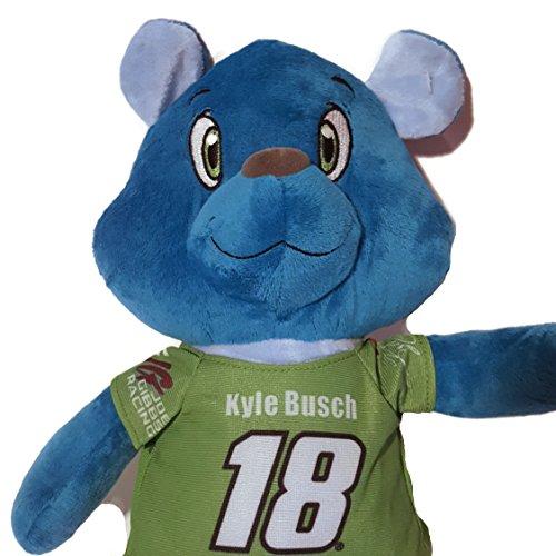#18 Kyle Busch NASCAR 13 inch Teddy Bear with T-shirt Stu...