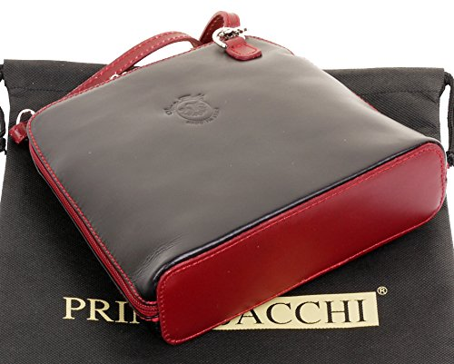 Sacchi Body Smooth Small Bag Cross Black Primo Shoulder Handbag Italian Red amp; Leather dT1dYw